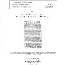 The 1622 Tierra Firme Fleet - An Account of the Disaster and the People - Cover Page and Abstract